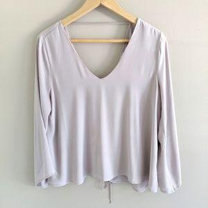 Satin lace back blouse